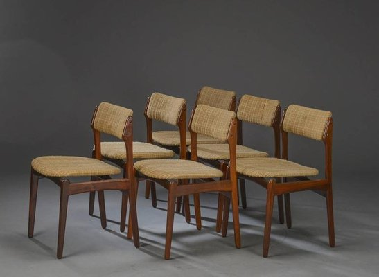 Danish Rosewood Dining Chairs By Erik Buch Set Of 6
