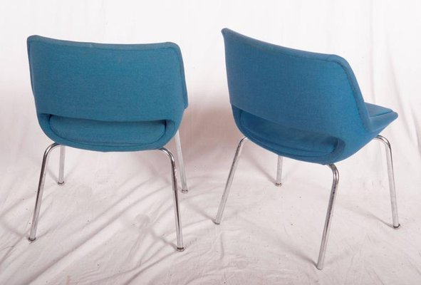 Mid Century Side Chairs by Olli Mannermaa for Martela Oy, Set of 2