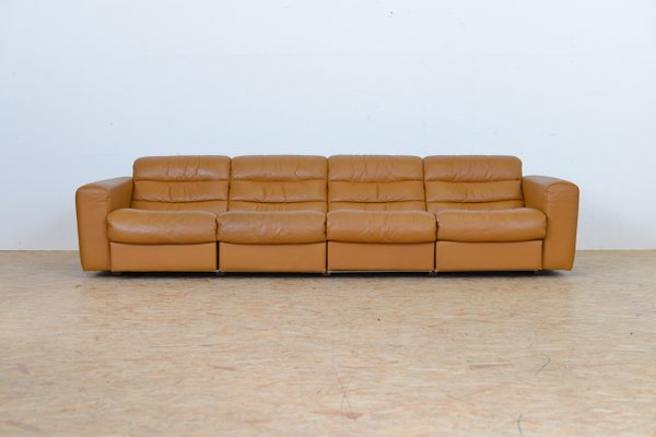 Vintage Four Seater Leather Sofa With Relax Function From De Sede