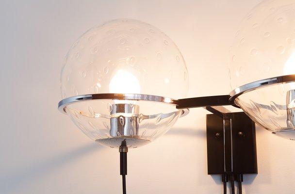 Lampada da parete con due sfere di raak in vendita su pamono