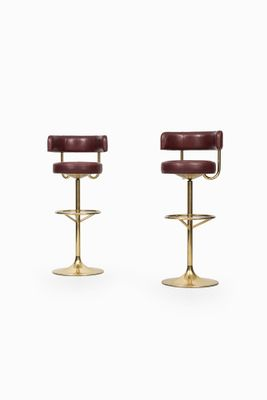High Bar Stools From Börje Johansson 1960s Set Of 2 1