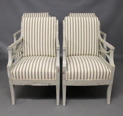 Antike Sessel im Gustavianischen Stil, 4er Set bei Pamono kaufen