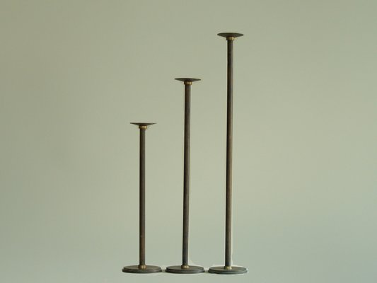 Finest Neoclassical Floor Candle Holders, 1920s, Set of 3 for sale at Pamono HC39