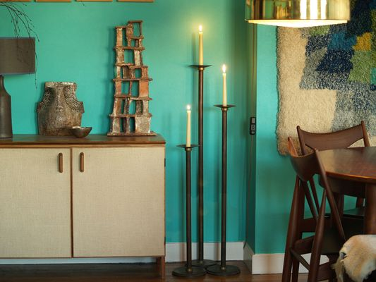 Very Neoclassical Floor Candle Holders, 1920s, Set of 3 for sale at Pamono RH21