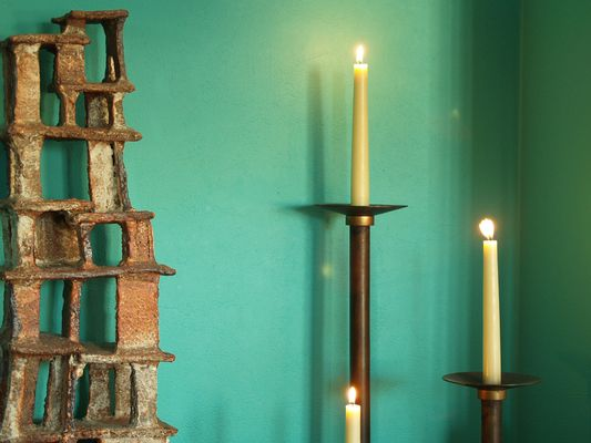 Favorite Neoclassical Floor Candle Holders, 1920s, Set of 3 for sale at Pamono LS32