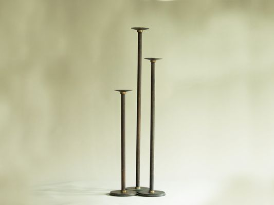 Well known Neoclassical Floor Candle Holders, 1920s, Set of 3 for sale at Pamono IO78