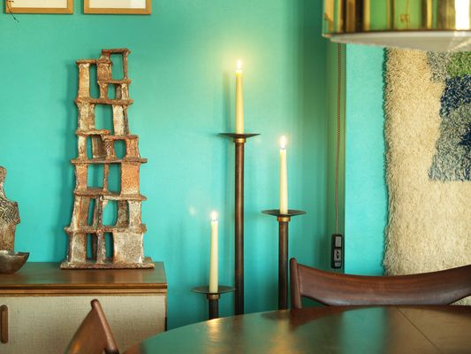 Brand new Neoclassical Floor Candle Holders, 1920s, Set of 3 for sale at Pamono GX16