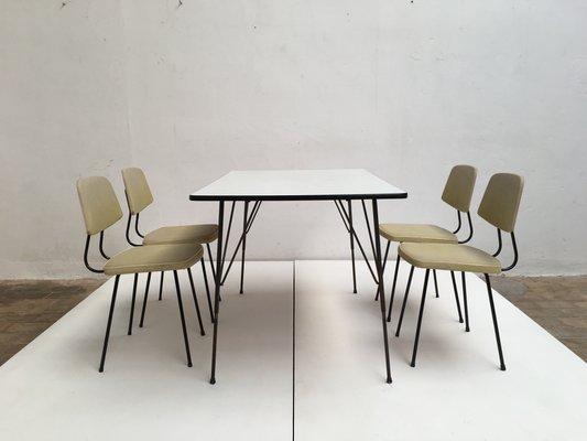 Esszimmerset Von Rudolf Wolf Fur Elsrijk Steel Furniture 1950er Bei