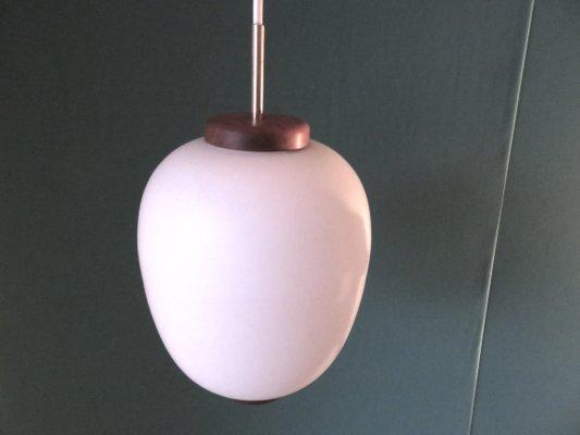 Danische Opalglas Lampe Von Bent Karlby Fur Lyfa 1950er Bei Pamono