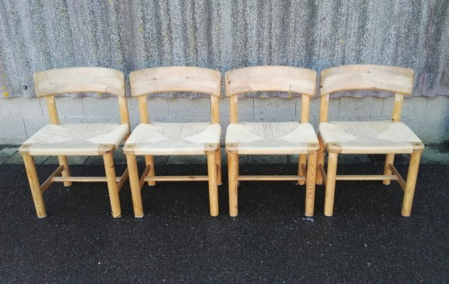Pine Chairs by Rainer Daumiller for Hirtshals 1970s Set of 4 1 & Pine Chairs by Rainer Daumiller for Hirtshals 1970s Set of 4 for ...