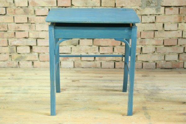 Bureau decole vintage en bois et chaise par baumann and fischel