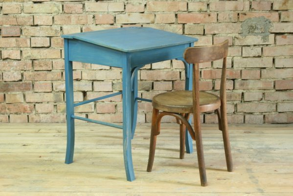 Superieur Vintage Wooden School Desk And Chair Set From Baumann, 1950s