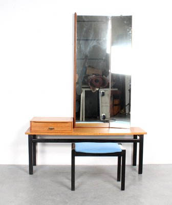 Vintage Dressing Table With Mirror And Stool For Sale At Pamono