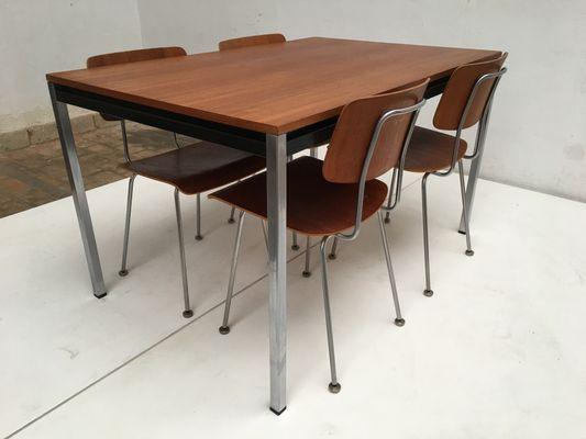 Sedie e tavolo da pranzo modello 1263 di A.R. Cordemeyer per Gispen, anni  \'60