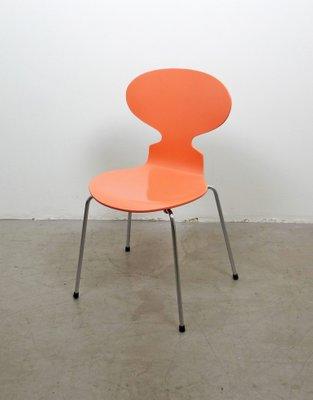 3101 Ant Stuhl In Pfirsichfarben Von Arne Jacobsen Fur Fritz Hansen 1950er 1