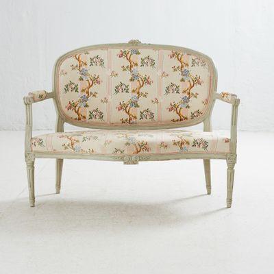 Antique Swedish Louis Xv Bench 1800s 1