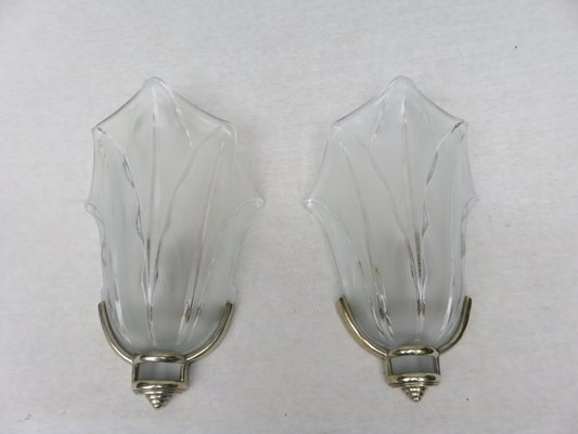 French Art Deco Wall Lights from Ezan, Set of 2 for sale at Pamono