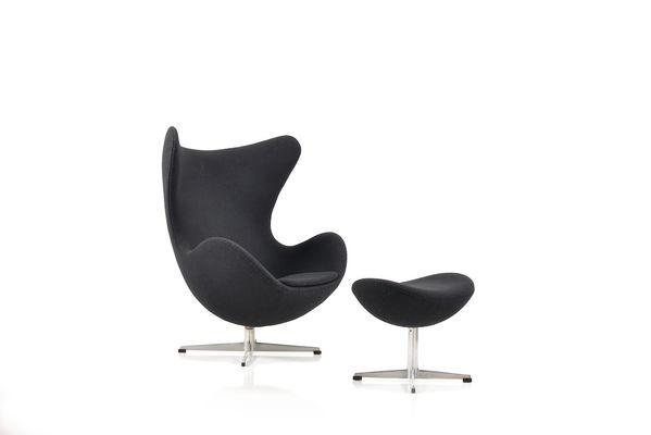 The Egg Chair U0026 Ottoman By Arne Jacobsen For Fritz Hansen, ...