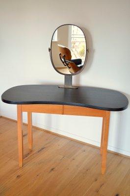 Vintage Kidney Shaped Dressing Table 1950s 1