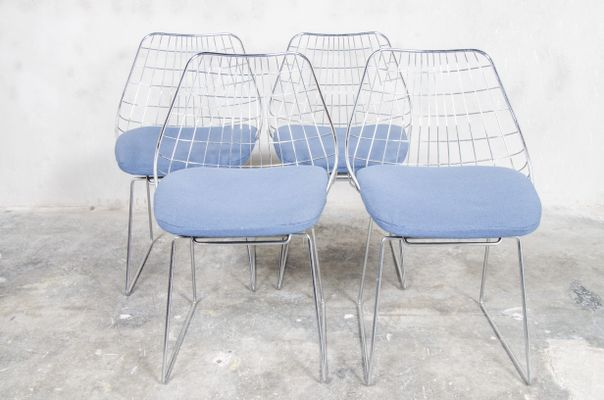 Astonishing Se05 Wire Dining Chairs By Cees Braakman For Pastoe 1950S Set Of 4 Evergreenethics Interior Chair Design Evergreenethicsorg