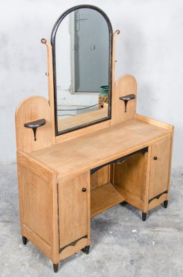 Dutch Art Deco Dressing Table With Mirror 1930s 2