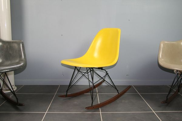 Ordinaire Yellow Rocking Chair By Charles U0026 Ray Eames For Herman Miller, ...