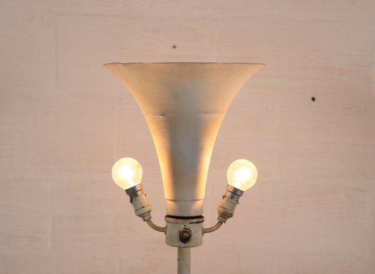 Vintage art deco lampe mit korinthischer säule bei pamono kaufen