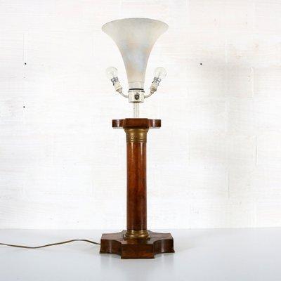 Vintage Art Deco Lampe mit Korinthischer Säule
