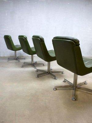 verde da oliva Sedia pelle vintage in ufficio PTkuXiOZ