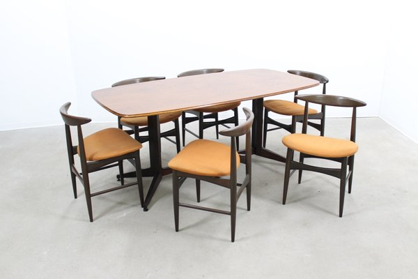 Mid Century Dining Table Chairs Set 1