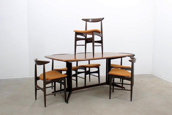 Tavolo da pranzo e set di sedie Mid-Century