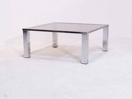 Vintage Coffee Table With Smoked Gl Top 1