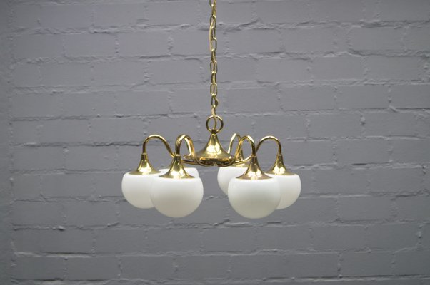 Italian Vintage Brass Ceiling Lamp For Sale At Pamono
