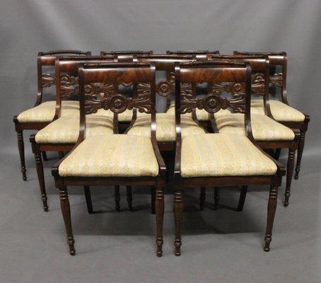 Antique Danish Chairs, 19th Century, Set of 9 1 - Antique Danish Chairs, 19th Century, Set Of 9 For Sale At Pamono