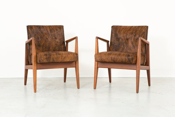 Mid Century Lounge Chairs By Jens Risom, Set Of 2 1