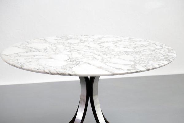 Tavolo da pranzo vintage in marmo di carrara di osvaldo borsani per