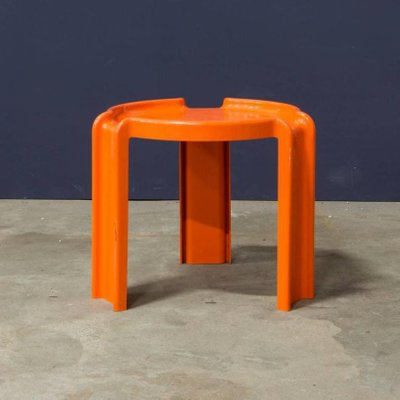 Orange Plastic Nesting Tables By Giotto Stoppino For Kartell, 1970s 4