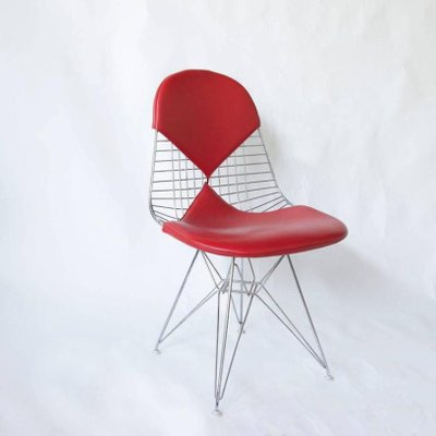 Red Leather Dkr Chairs By Charles And Ray Eames For Vitra Set Of 4
