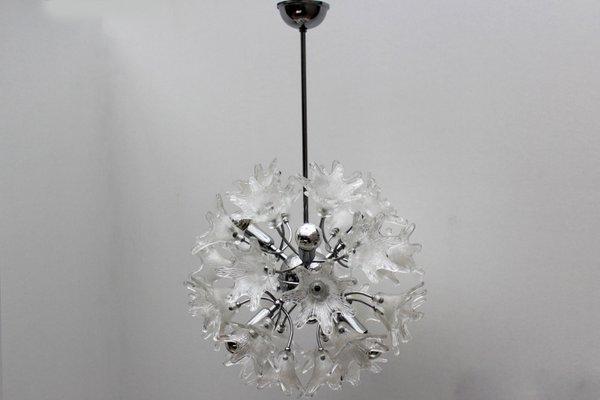 Lampade In Vetro A Sospensione : Lampada a sospensione sputnik mid century in vetro di murano di