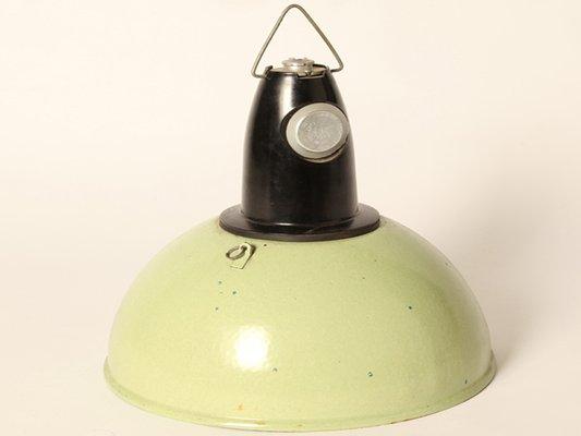 Lampade A Sospensione Vintage : Lampada a sospensione vintage smaltata verde chiaro in vendita su