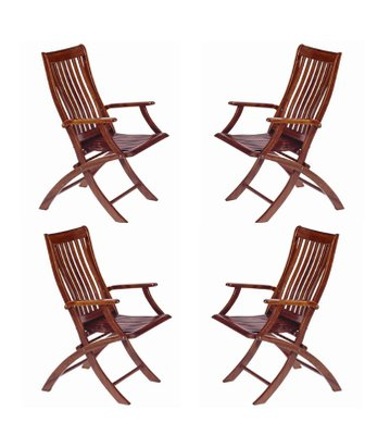 Etonnant Vintage Folding Deck Chairs From Starbay, Set Of 4 1