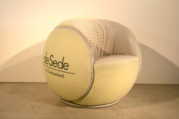 Poltrona a forma di palla da tennis vintage di de sede in