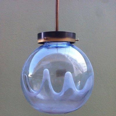 vintage italian murano glass globe pendant lamp by toni zuccheri for