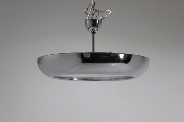 Bauhaus Style Chrome Pendant Lamp By Josef Hurka For Napako, 1930 4