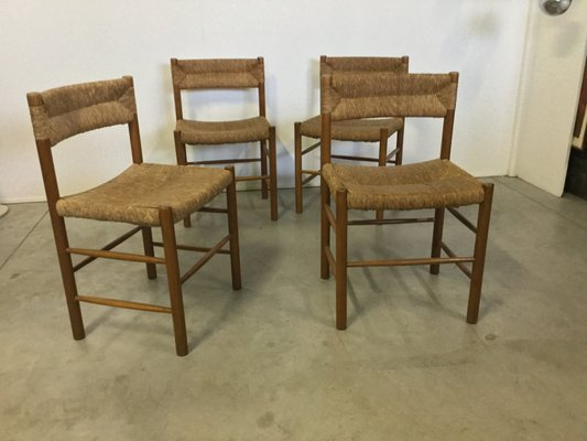 Vintage Straw u0026 Pine Chairs by Robert Sentou ... & Vintage Straw u0026 Pine Chairs by Robert Sentou Set of 4 for sale at ...