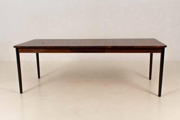 Mid Century Modern Dutch Rosewood Extendable Dining Table By Fristho 1960s