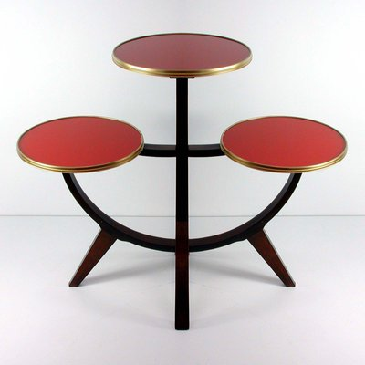 Vintage German 3 Tier Plant Stand Or Side Table 1950s 1