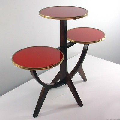 Vintage German 3-Tier Plant Stand or Side Table, 1950s