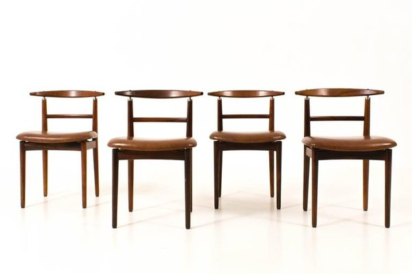 mid century modern chairs by helge sibast for sibast set of 4 for