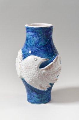 Vase Grand Par Bleu En The Blanc Et Cloutier Brothers1960s Céramique XiuPZk